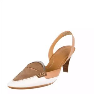 Tod's Shoes - Tod's slingback heels women's 8.5 pointed toe